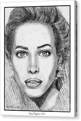 Christy Turlington In 1990 Canvas Print by J McCombie