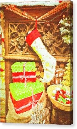 Chritmas Stocking Canvas Print by Tom Gowanlock