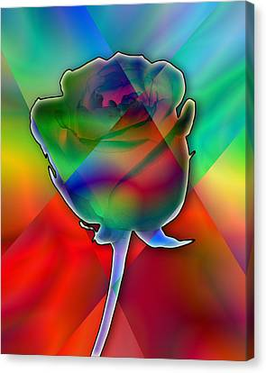 Chromatic Rose Canvas Print by Anthony Caruso