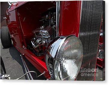 Chrome Engine Vintage Car Canvas Print