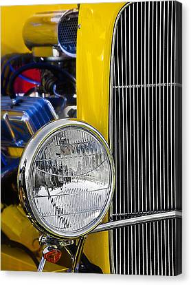 Canvas Print featuring the photograph Chrome Yellow 01 by Kevin Chippindall