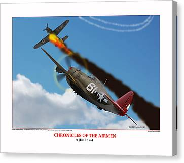 Chronicles Of The Airmen Nine June Canvas Print by Jerry Taliaferro
