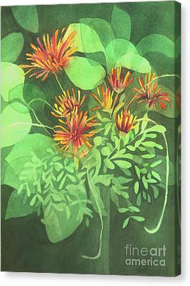 Chrysanthemums Canvas Print by Anne Havard