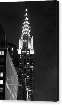 Canvas Print featuring the photograph Chrysler Building by Michael Dorn
