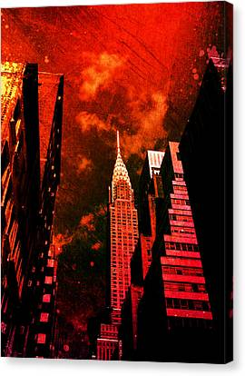 Chrysler Building - New York City Surreal Canvas Print by Vivienne Gucwa