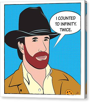 Chuck Norris. I Counted To Infinity. Twice Canvas Print by Yvan Goudard