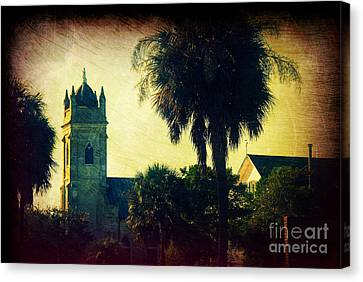 Church At Fort Moultrie Near Charleston Sc Canvas Print by Susanne Van Hulst