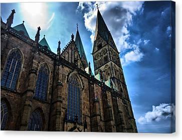 Church In Bremen Canvas Print by Edward Myers