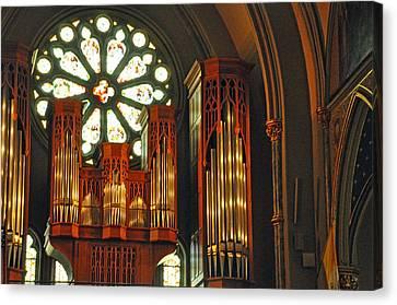 Church Interior Canvas Print by Helen Haw