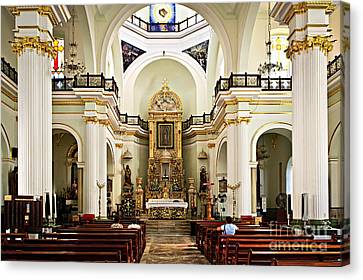 Church Interior In Puerto Vallarta Canvas Print