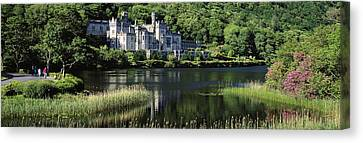 Church Near A Lake, Kylemore Abbey Canvas Print by The Irish Image Collection