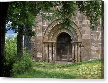 Church Of Bredons.cantal. France Canvas Print