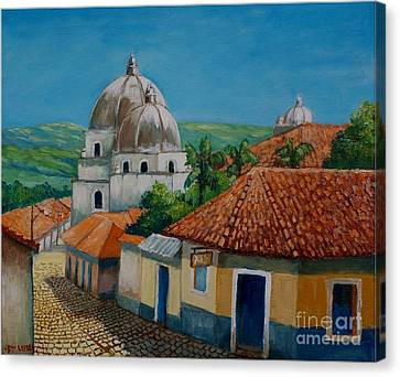 Church Of Pespire In Honduras Canvas Print