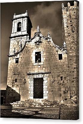 Church Of The Virgen De La Ermitana - Peniscola  Canvas Print by Juergen Weiss