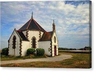 Canvas Print featuring the photograph Church Off The Brittany Coast by Dave Mills