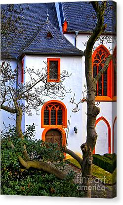 Church On Rhine Two Canvas Print