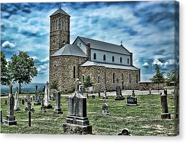 Canvas Print featuring the photograph Church On The Hill by Renee Hardison