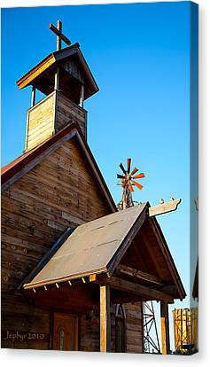 Church On The Mount - Goldfield Ghost Town Canvas Print by Jephyr Art