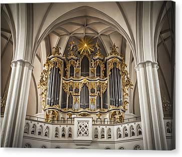 Church Organ Canvas Print by Kurt Forschen