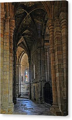 Canvas Print featuring the photograph Church Passageway Provence France by Dave Mills