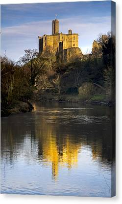 Church Reflection In Water, Warkworth Canvas Print by John Short