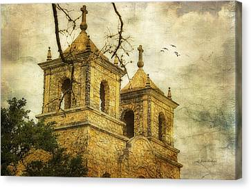 Canvas Print featuring the photograph Church Towers by Joan Bertucci