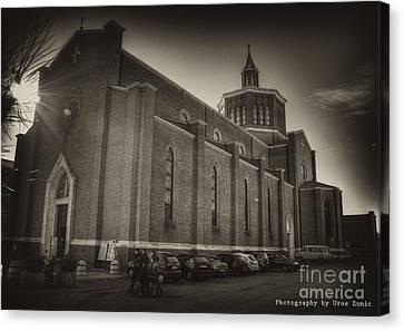Church Canvas Print by Uros Zunic