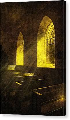 Church Window Light Canvas Print by Svetlana Sewell