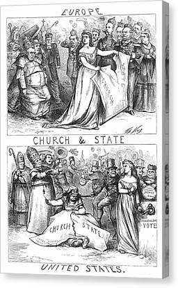 Church/state Cartoon, 1870 Canvas Print by Granger