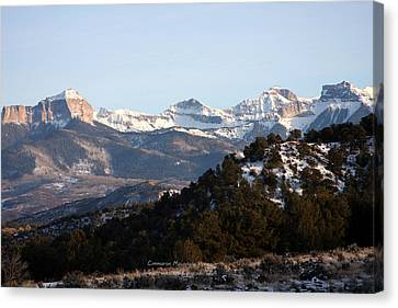 Canvas Print featuring the photograph Cimmaron Range by Marta Alfred