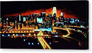 Cincinnati By Black Light Canvas Print by Thomas Kolendra