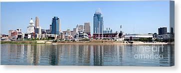 Cincinnati Panorama Skyline Canvas Print by Paul Velgos