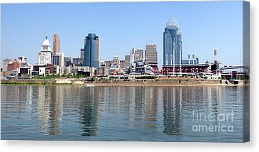 Cincinnati Panoramic Skyline Canvas Print by Paul Velgos
