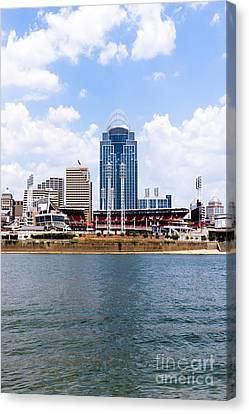 Cincinnati Skyline And Downtown City Buildings Photo Canvas Print by Paul Velgos