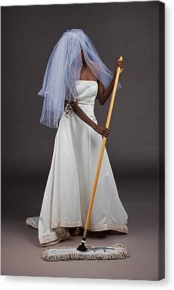 Canvas Print featuring the photograph Cinderella Bride by Jim Boardman