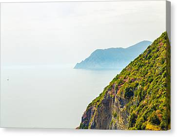 Cinque Terre Coastline Canvas Print by Michal Krakowiak