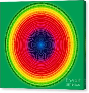 Circle X-ray Canvas Print by Atiketta Sangasaeng