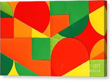 Circles Colorized Canvas Print by Vonda Lawson-Rosa