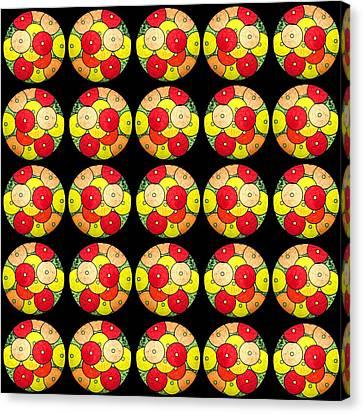 Pop Art Canvas Print - Circles In Circles by Sumit Mehndiratta
