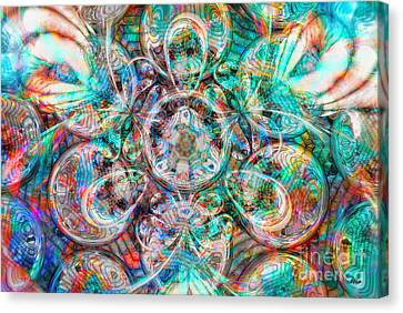 Circles Of Life Canvas Print by Mo T
