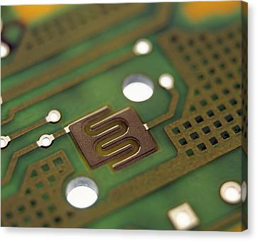 Circuit Board Canvas Print by Lawrence Lawry