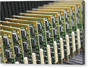 Electronic Component Canvas Print - Circuit Board Production by Ria Novosti