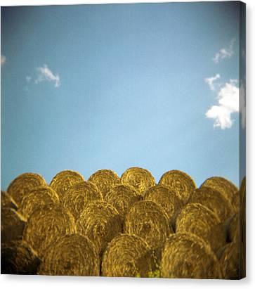 Bale Canvas Print - Circular Hay Bales by James Arnold