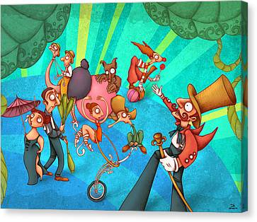 Circus 2 Canvas Print by Autogiro Illustration