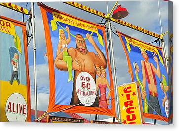 Circus Attractions Canvas Print by David Lee Thompson