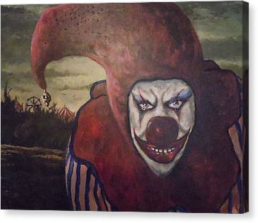 Canvas Print featuring the painting Circus Greeter by James Guentner