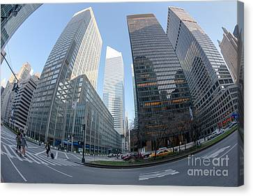 Crosswalk Canvas Print - Citigroup Center From Park Avenue I by Clarence Holmes