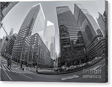 Crosswalk Canvas Print - Citigroup Center From Park Avenue II by Clarence Holmes