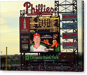 Chase Utley Canvas Print - Citizens Bank Park 2 by See Me Beautiful Photography