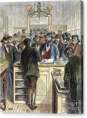 Citizenship, Nyc, 1868 Canvas Print by Granger